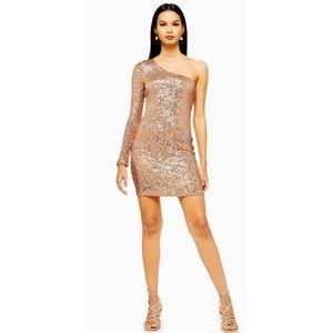 Topshot one sleeve mini dress